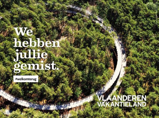 """Vlaamse toerismesector lanceert sensibiliserings- en inspiratiecampagne voor zomer in eigen land: """"We hebben jullie gemist. #welkomterug"""""""