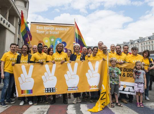 N-VA'ers op de pride 2017